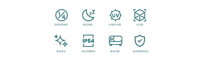 Mercury V1 日本 UV殺菌超聲波清洗機 -孔雀綠