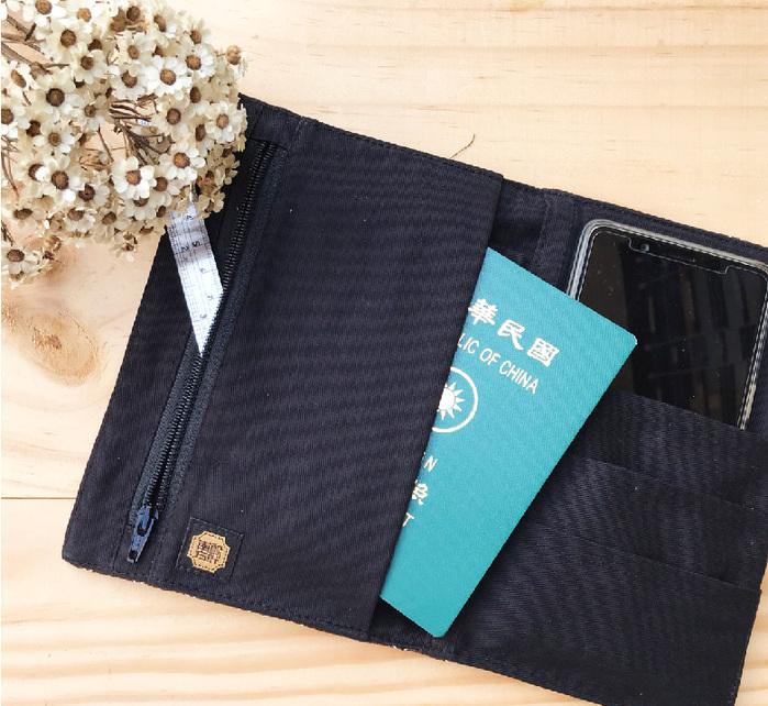 南方設計|藍染護照套萬用袋