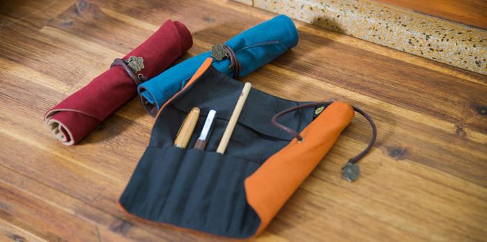 南方設計|鳳凰花-文青捲式筆袋