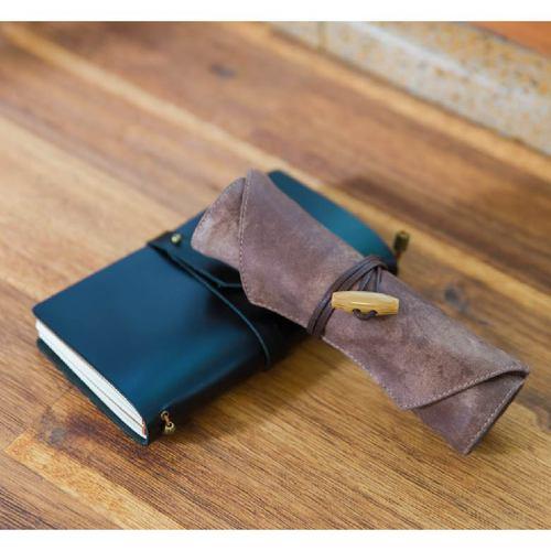 南方設計|捲式鋼筆袋-藍染 / 仿皮
