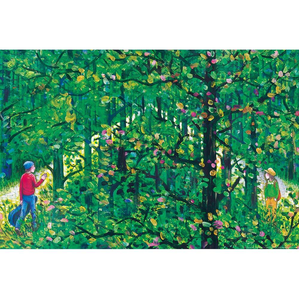 雷諾瓦拼圖文化坊|綠光森林/忽遠忽近/幾米/1008片