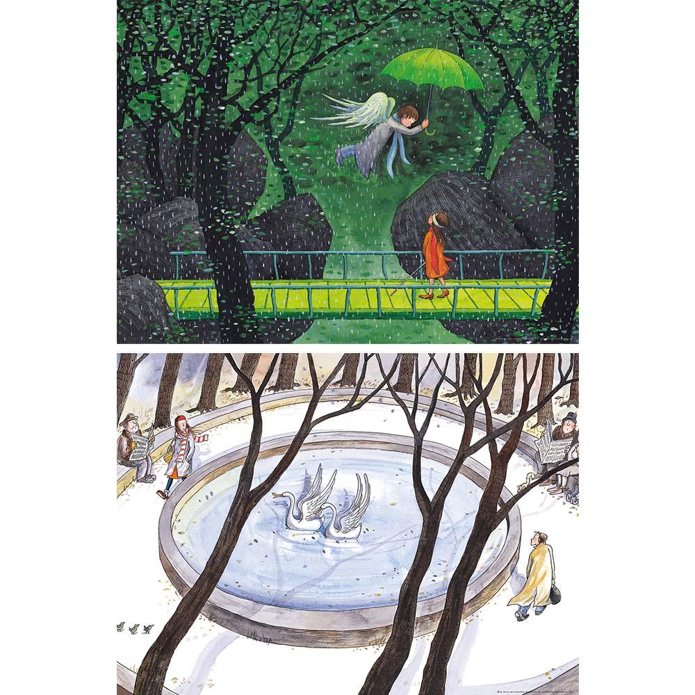 雷諾瓦拼圖文化坊|守護天使/戀之風景/幾米/504片+遇見/向左走向右走/幾米/504片|2件組
