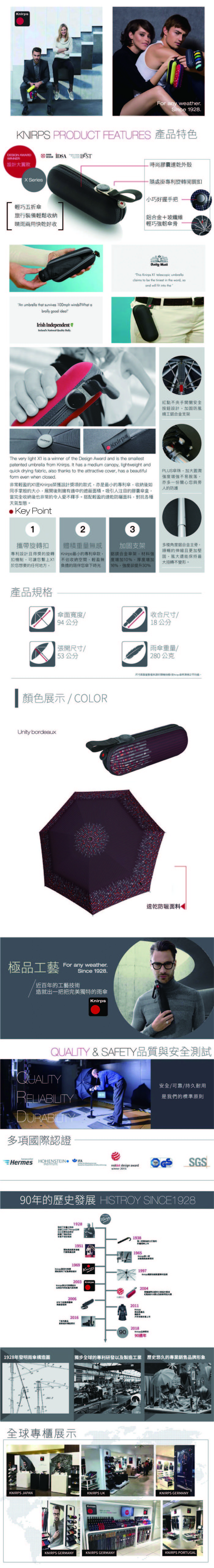 (複製)Knirps德國紅點傘|X1 膠囊五折傘-Seaside