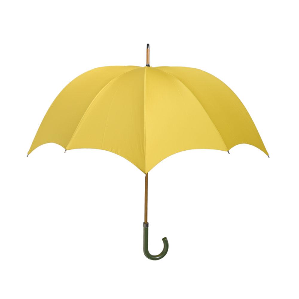 DiCesare|GRANDE 1tone 漆皮素色南瓜傘-杏黃(綠色漆皮握把)