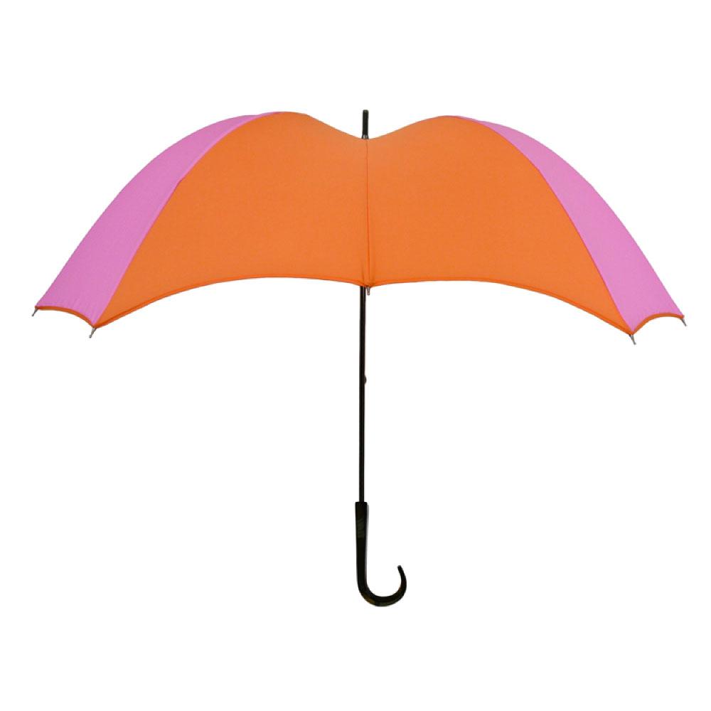 DiCesare|Cross 2tone Walker 撞色十字拼接晴雨兼用傘-塑膠握把