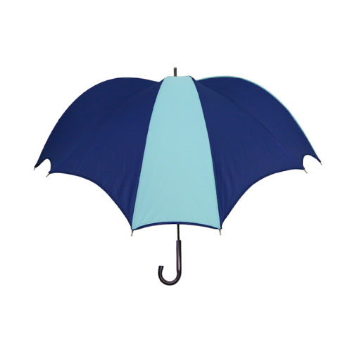 DiCesare|Cross 2tone Walker 撞色十字拼接晴雨兼用傘-皮革握把