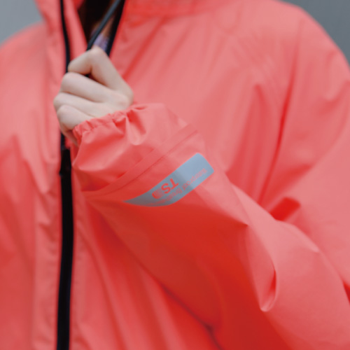 MECOVER|東麗酒伊織染超輕風雨衣-珊瑚橙