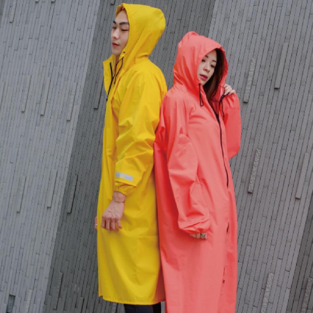 MECOVER|東麗酒伊織染超輕風雨衣(加長版)-籐黄
