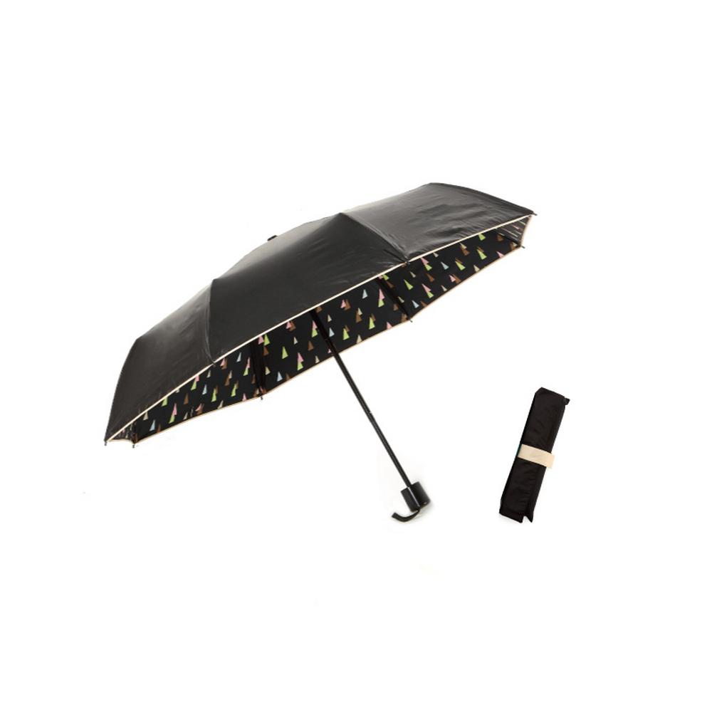 MECOVER|完美防曬-零透光黑膠加大手開傘-幾何棕