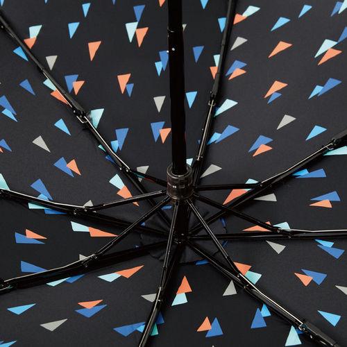 MECOVER|完美防曬-零透光黑膠加大手開傘-幾何綠