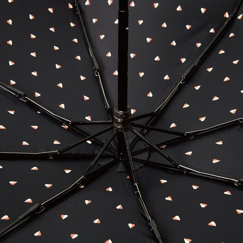 MECOVER|完美防曬-零透光黑膠加大手開傘-愛心熱帶橙