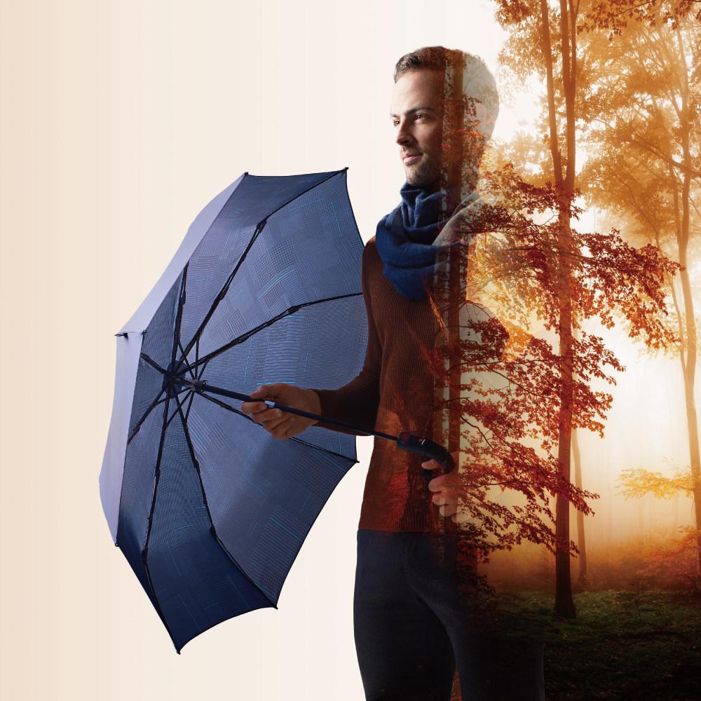 Knirps德國紅點傘|T.200 自動開收傘- Challenge blue