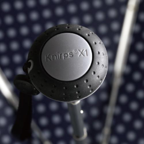 Knirps®德國紅點傘|X1 膠囊五折傘-NUNO Snow