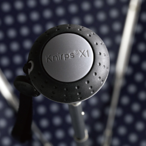 Knirps®德國紅點傘|X1 膠囊五折傘-Unity Black