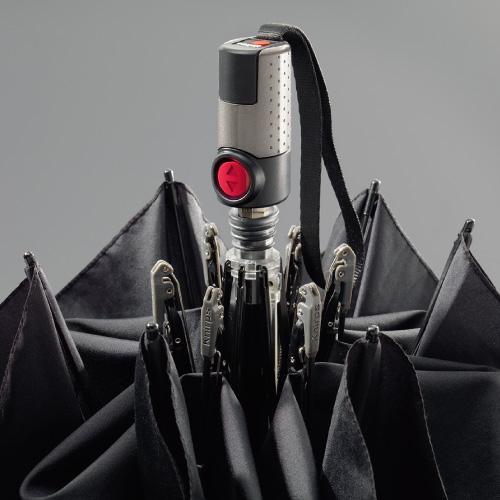 Knirps®德國紅點傘 TS.220 輕薄安全扁自動開收傘-Navy