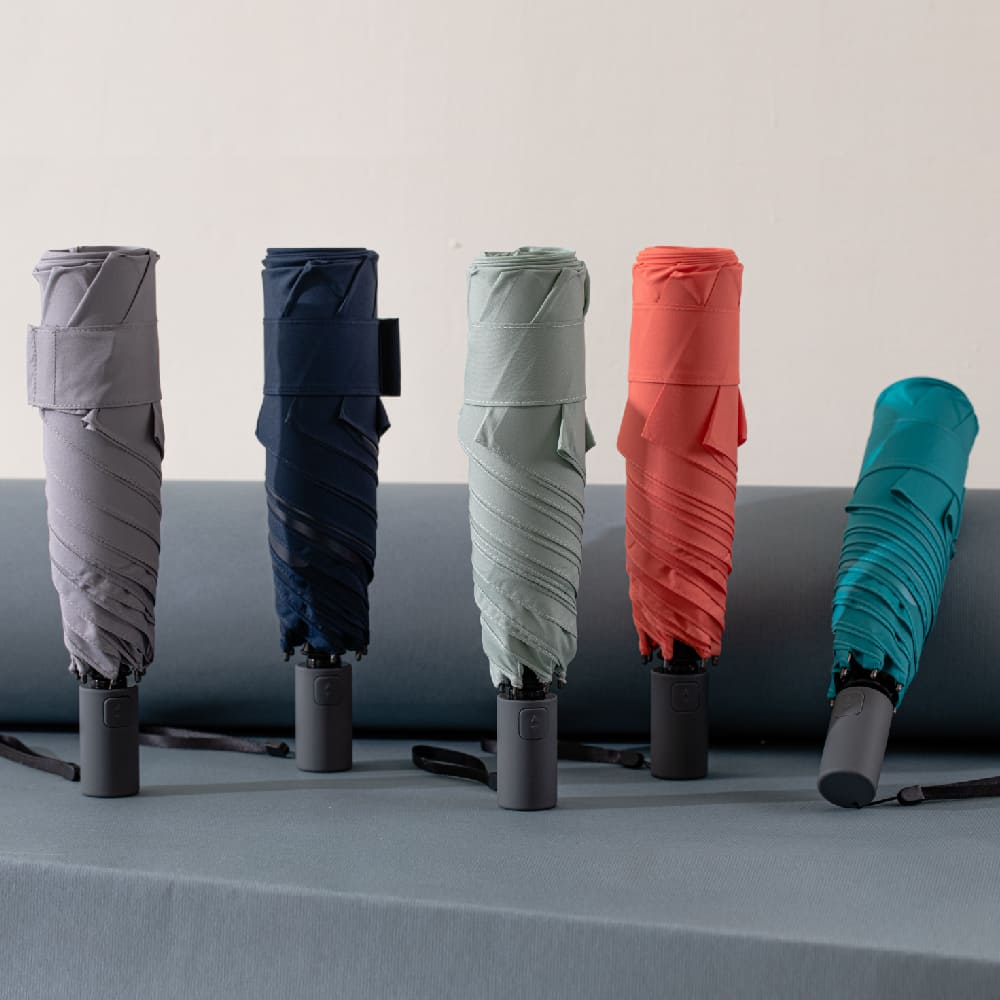 ROLLS |AUTO 自動開收瞬間捲收傘 (松綠藍)