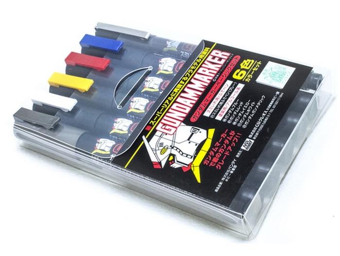 日本MR.HOBBY鋼彈筆組GMS-105(油性基本色+槍鐵色+水性灰色墨線筆)GSI郡氏GUNZE