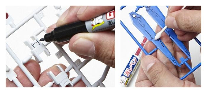 日本MR.HOBBY鋼彈墨線套筆GMS-122 GSI郡氏GUNZE鋼普拉滲線筆