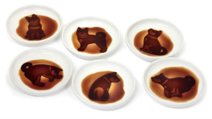 日本ARTHA柴犬造型陶瓷凹凸醬油碟AR06042