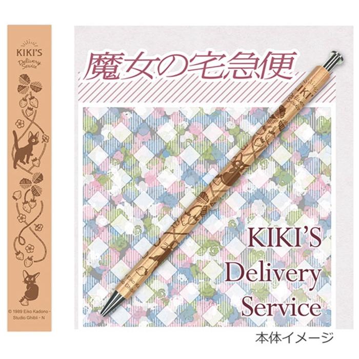 日本Movic木軸筆(魔女宅急便黑貓吉吉)原子筆/自動鉛筆-0718