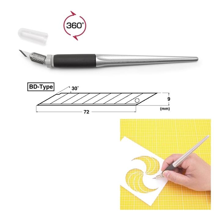 NT Cutter筆刀360度旋轉雕刻刀SW-600GP(日本原裝進口)