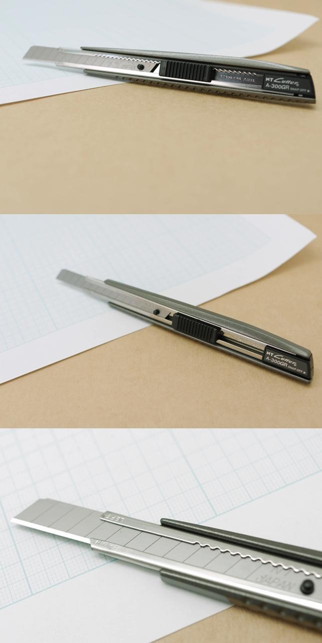 日本NT Cutter折刃式美工刀A-300GRP細工刀