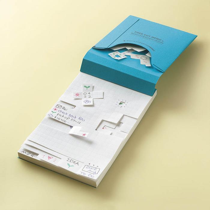 日本KOKUYO自由撕便條紙F32B(方格;A6大小:150 x 100mm;80頁)