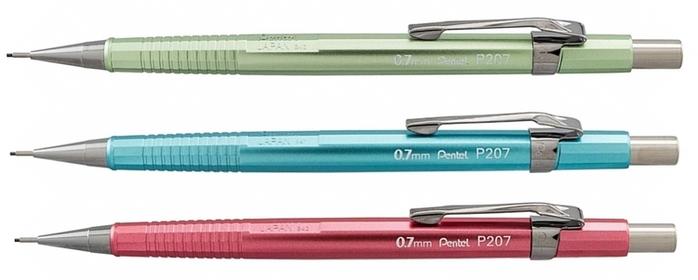 日本Pentel飛龍金屬製圖筆(3支入)P207MBP3M1