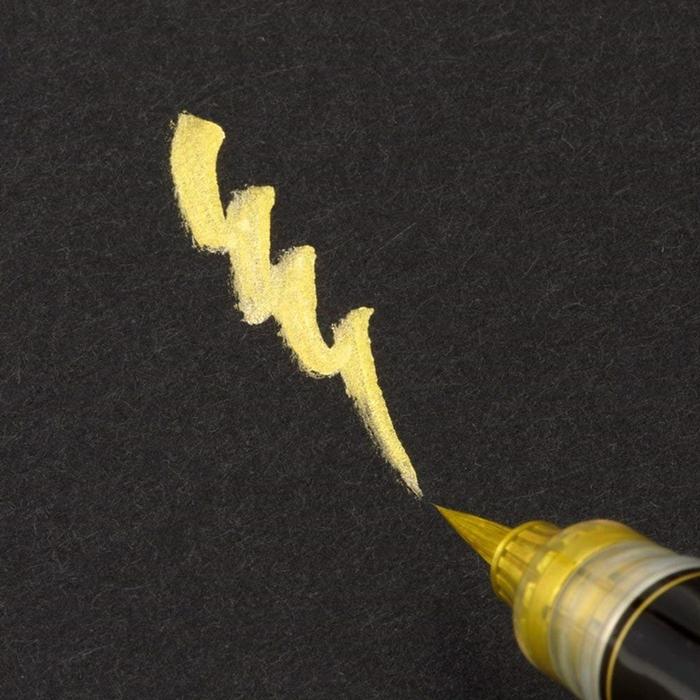 日本Pentel飛龍 柔繪筆近代毛筆XGFH-X金色/XGFH-Z銀色