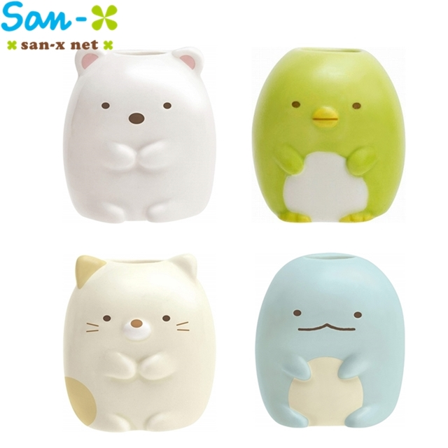 日本San-x牙刷架FE21系列-角落生物(白熊、企鵝、貓)