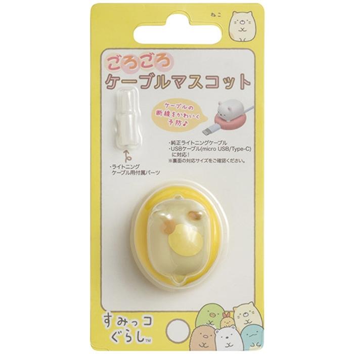 日本San-X角落小夥伴Lightning/USB傳輸充電線保護套FR1004貓
