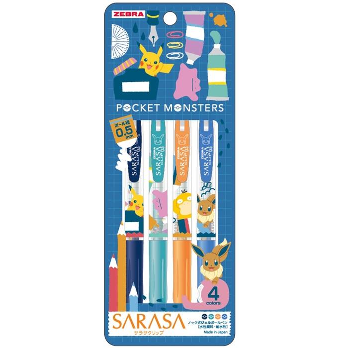 日本SHOWA NOTE ZEBRA SARASA原子筆860 7280 03-900A-皮卡丘(筆芯:0.5mm) 日本原裝進口