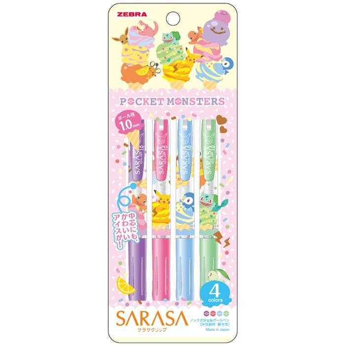 日本SHOWA NOTE ZEBRA SARASA原子筆860 7280 04-900B-皮卡丘(筆芯:1.0mm)