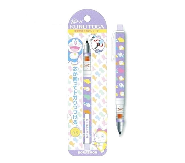 日本UNI多啦A夢(紫色B款)KURU TOGA不易斷蕊自動旋轉鉛筆0.5mm(日本平行輸入)416214005-800B