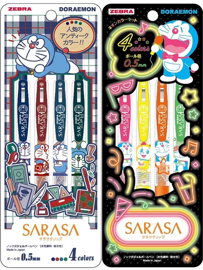日本SHOWA NOTE ZEBRA SARASA原子筆8602140系列-哆啦A夢(筆芯:0.5mm) 日本原裝進口