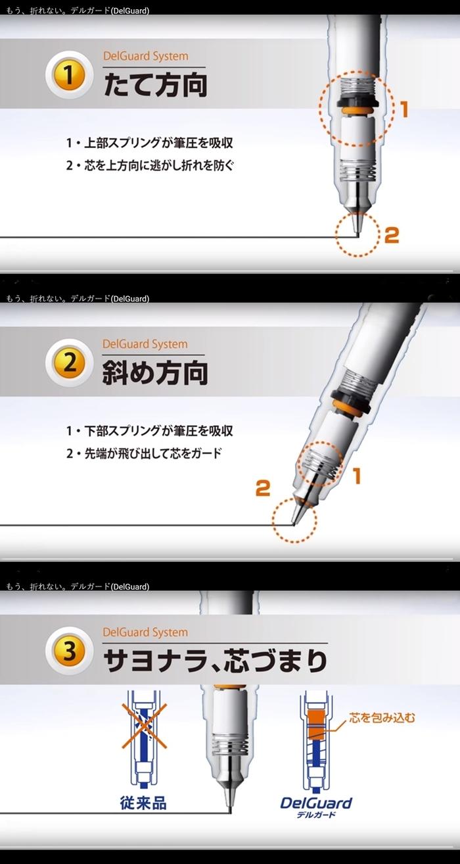 日本SHOWA NOTE ZEBRA DelGuard不斷芯自動鉛筆-皮卡丘883 7280系列(筆芯:0.5mm)