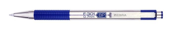 日本ZEBRA不銹鋼原子筆F-301 0.7mm BP(筆芯:黑色0.7mm油性)美版,平行輸入