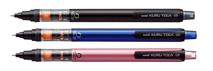 日本UNI三菱KURU TOGA 360度旋轉自動鉛筆轉轉筆M5-452(0.5mm鉛筆;第六代)