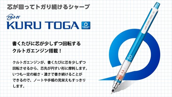 日本UNI宮崎駿KURU TOGA 0.5mm不易斷蕊自動旋轉鉛筆0316-13龍貓-下雨天撐傘龍貓版(日本原裝進口)