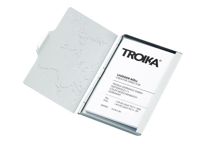 德國TROIKA|防RFID/NFC防感應防側錄防盗信用卡夾 ( CDC15-02/AL )
