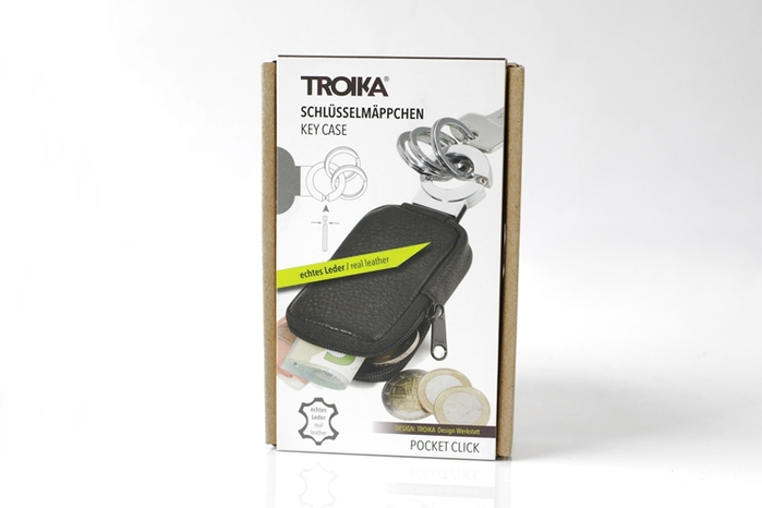 (複製)德國TROIKA|POCKET CLICK創意三環鑰匙圈 ( KR8-77/LE )