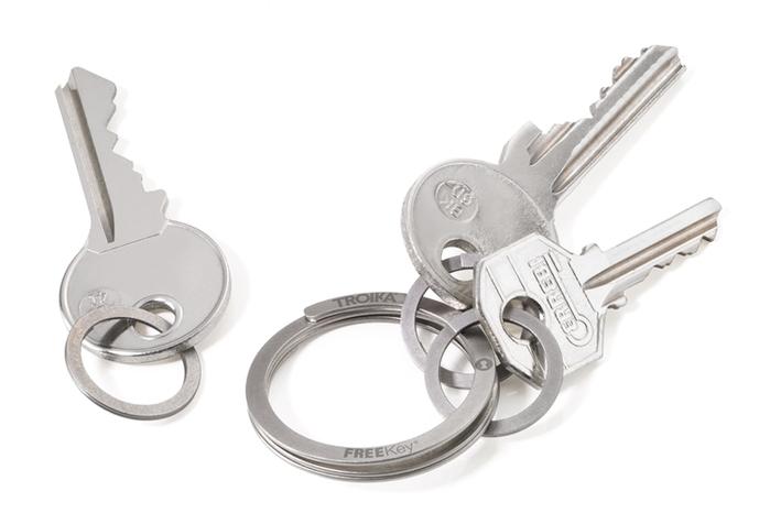 德國TROIKA|高質感FREEKEY® SYSTEM鑰匙圈 ( KR15-02/ST )