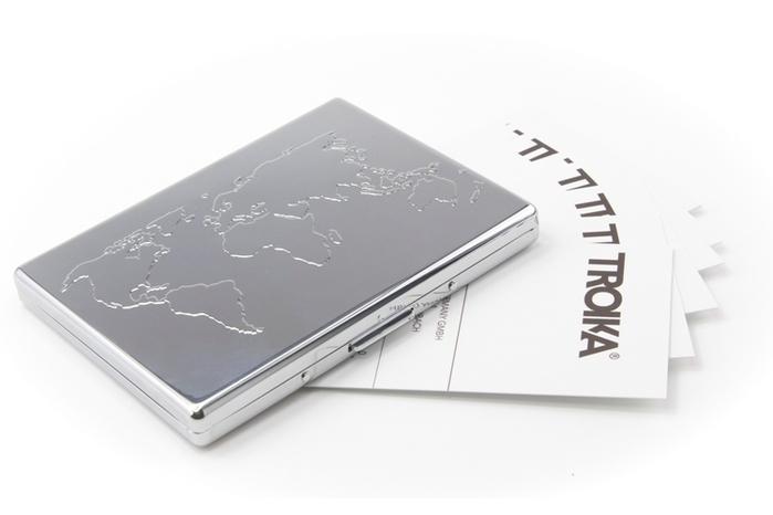 德國TROIKA|防RFID防側錄BUSINESS WORLD信用卡/紙鈔夾 ( CCC75/CH )