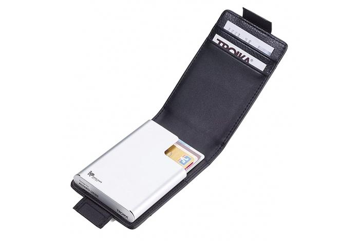 德國TROIKA|信用卡防盜防RFID防NFC防側錄多功能卡夾 ( CCC83/BK )