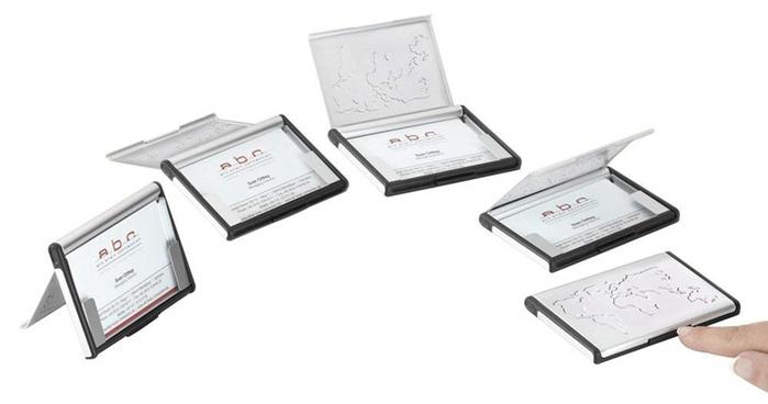 德國TROIKA|世界地圖立式名片夾多功能卡夾隨身名片匣 ( CDC96 )