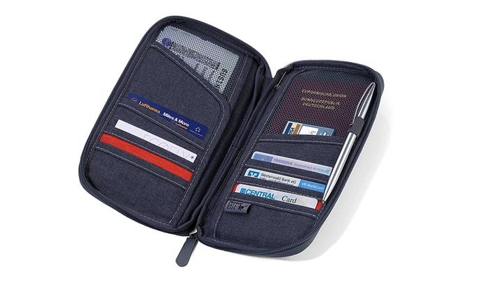 德國TROIKA|防感應護照包防盜卡夾防感應錢包 ( TRV20/GY 灰色 )