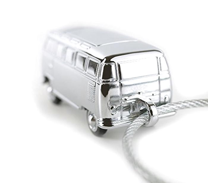 德國TROIKA|福斯麵包車吊飾LED手電筒鑰匙圈 ( KR17-40-CH )