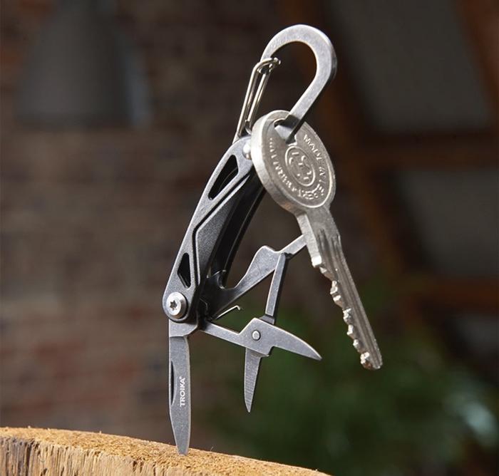 德國TROIKA|瑞士刀鑰匙圈萬用刀多功能鑰匙圈 ( KTL20/BK )