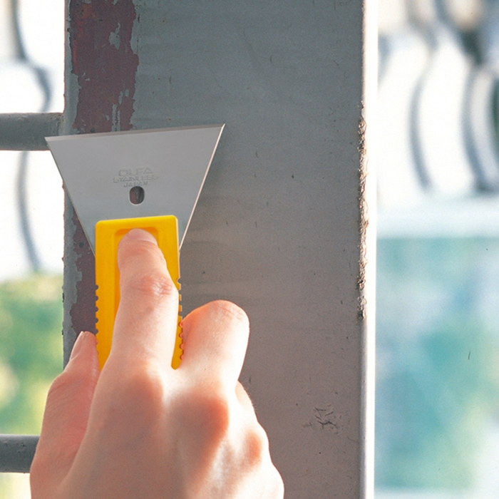 日本OLFA|不鏽鋼刮刀 ( 大:尺寸155mm*55mm ; SCR-L )