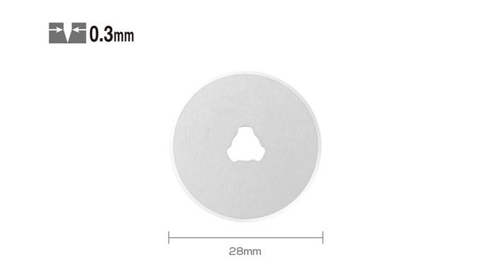日本OLFA|旋轉切刀圓形刀片替刃 ( 28mm ; RB28-10 )